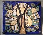 Twee vogels in boom/zon